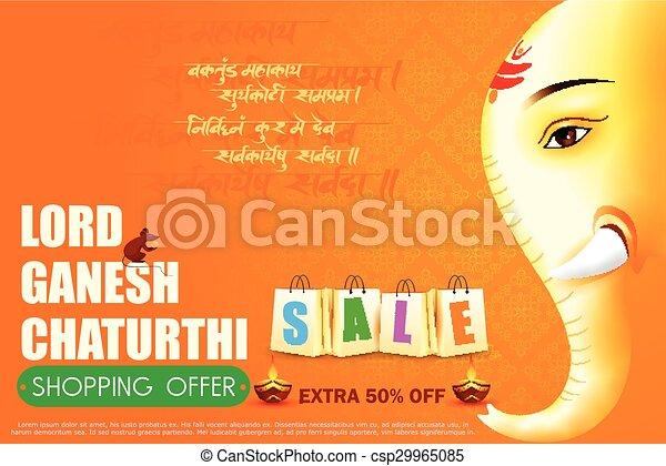 Lord Ganesha for Ganesh Chaturthi Sale offer - csp29965085