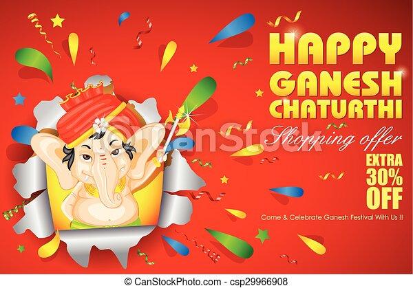 Lord Ganesha for Ganesh Chaturthi Sale offer - csp29966908