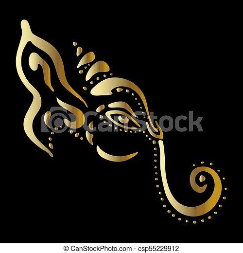 Lord Ganesha. Ganapati - csp55229912