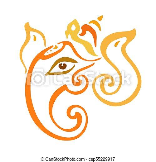 Lord Ganesha. Ganapati - csp55229917