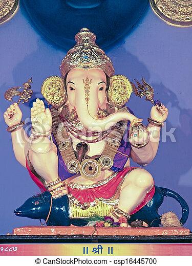 Lord Ganesha, Ganesh Festival, Maharashtra, India - csp16445700