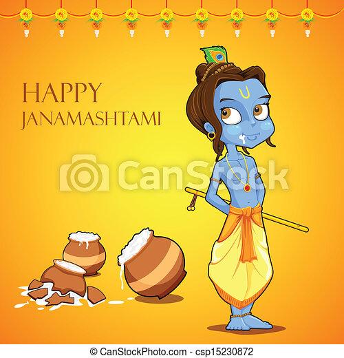 Lord Krishana in Janmashtami - csp15230872