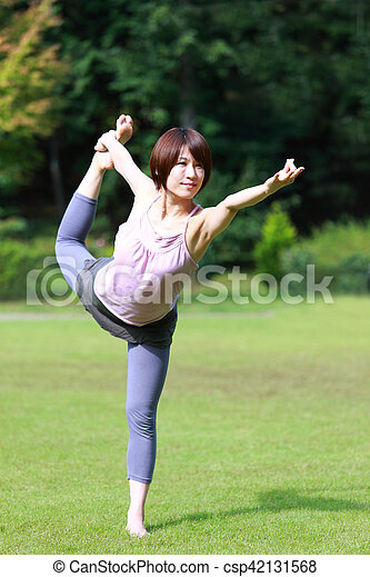 lord of the dance pose portrait of japanese woman doing