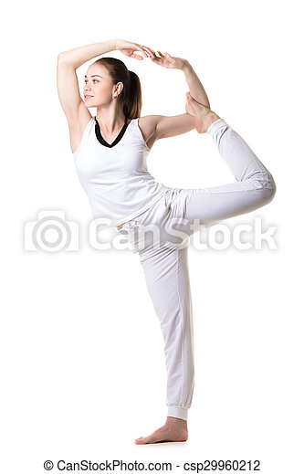 lord of the dance yoga pose beautiful sporty girl