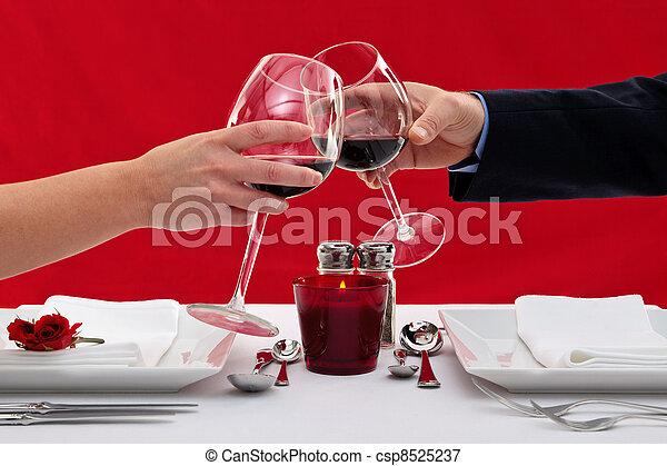 loro, coppia, tostare, occhiali - csp8525237