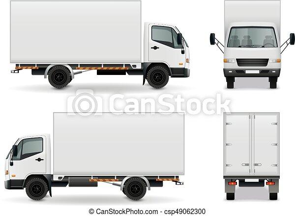 Lorry Realistic Advertising Mockup - csp49062300