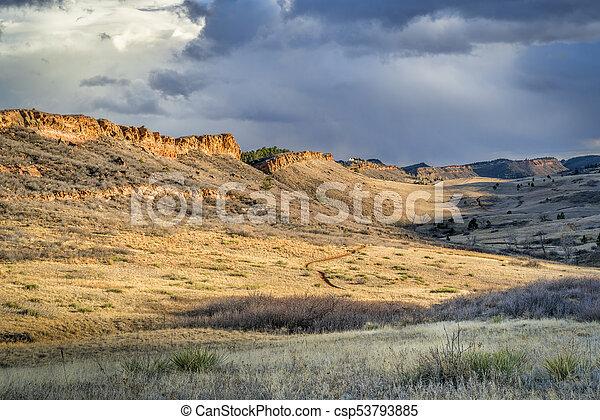 lory, colorado, norte, parque, foothills, estado - csp53793885