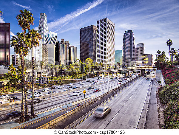 En el centro de Los Ángeles - csp17804126