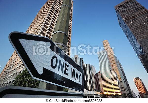En el centro de Los Ángeles - csp6508038