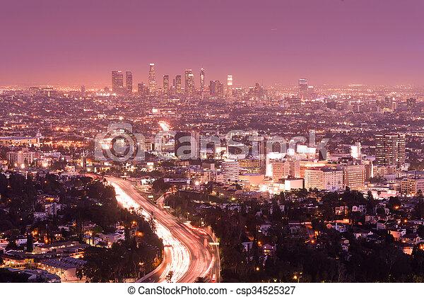 Los Angeles California City Skyline - csp34525327