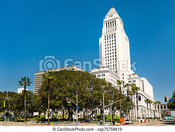 Los Angeles City Hall in California - csp75759619