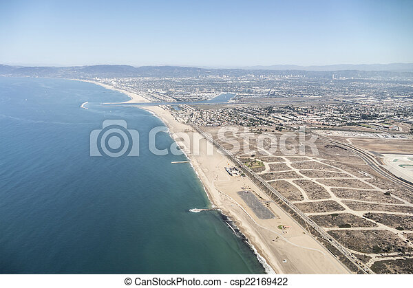 Los Angeles Coastal Aerial - csp22169422