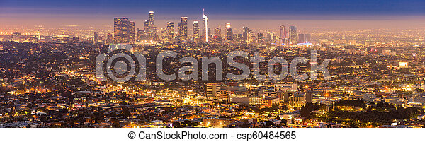 Los Angeles Downtown sunset - csp60484565