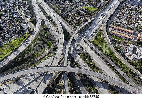 Los Angeles Freeway Ramps - csp44456745