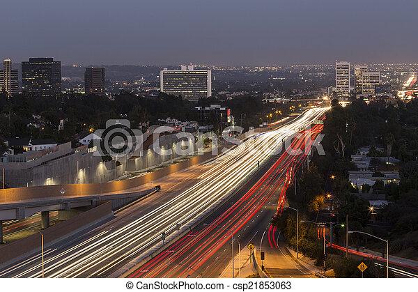 Los Angeles Freeway - csp21853063