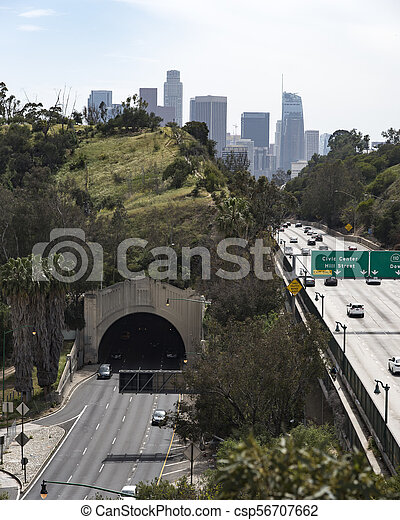 Los Angeles Freeway - csp56707662