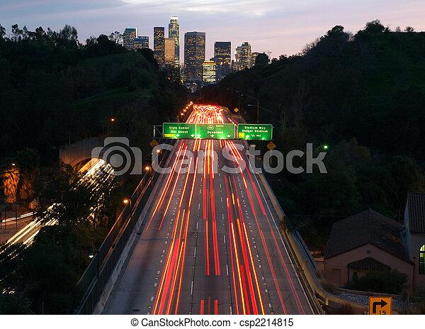 Los Angeles Freeway - csp2214815