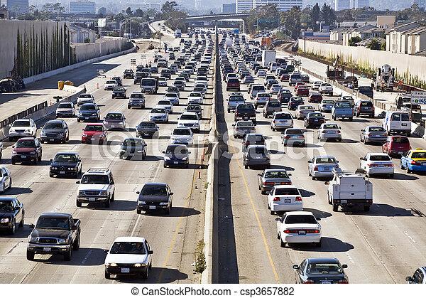 Los Angeles Freeway Traffic--the 405 - csp3657882