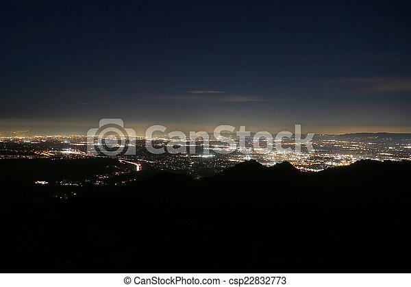 Los Angeles from Rocky Peak Park - csp22832773
