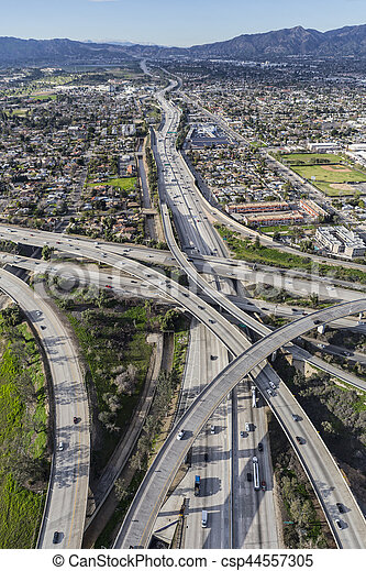 Los Angeles Golden State Freeway North - csp44557305