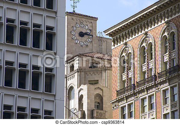 Los Angeles Historic Architecture - csp9363814
