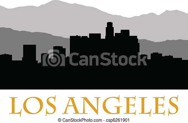 los angeles skyline b vector