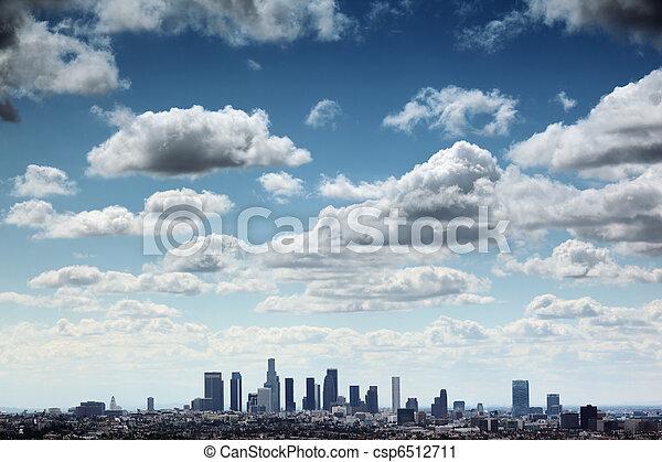 Los Angeles skyline - csp6512711