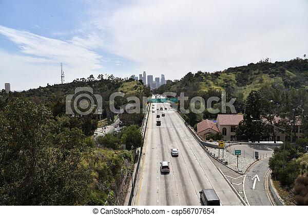 Los Angeles Skyline - csp56707654