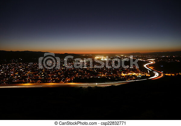 Los Angeles Suburban Dusk - csp22832771