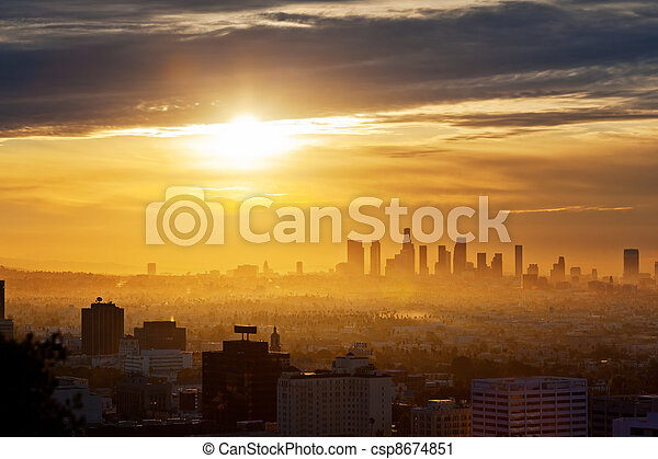 Los Angeles sunrise - csp8674851