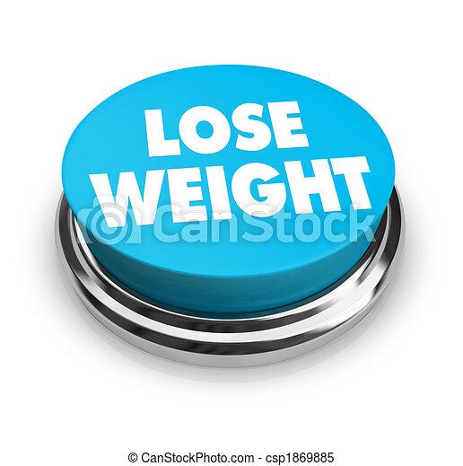 Lose Weight - Blue Button - csp1869885