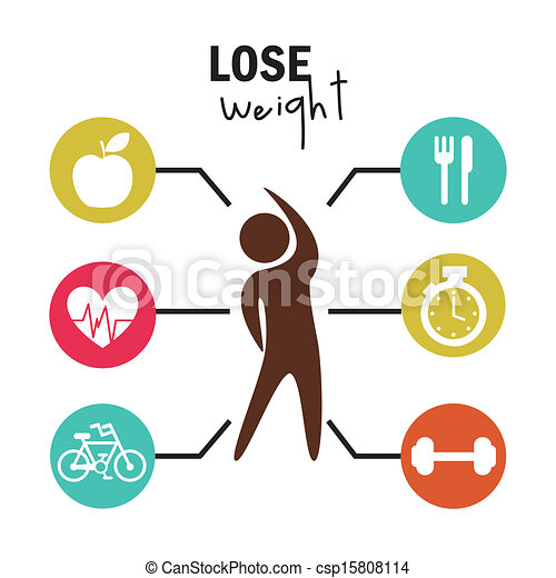 lose weight over white background vector illustration rh canstockphoto com weight loss clip art free weight loss clipart free