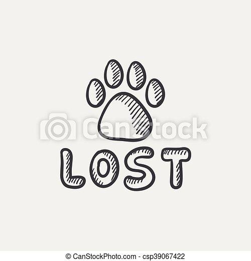 Lost Dog Clipart - Lizenzfrei - GoGraph
