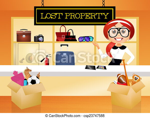 illustration of lost property stock illustration - search eps clip
