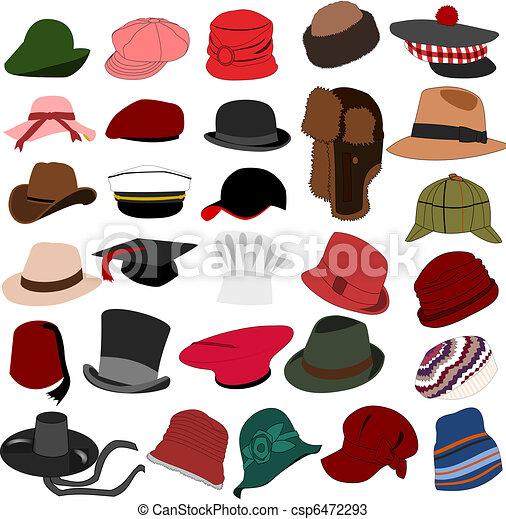 lotes, sombreros, conjunto, 04 - csp6472293