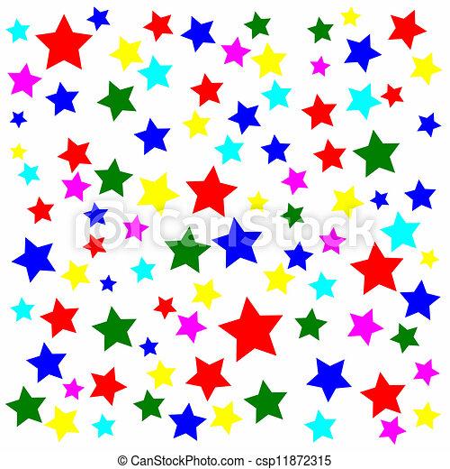 Lotissements Arrière Plan Blanc étoiles Multicolore