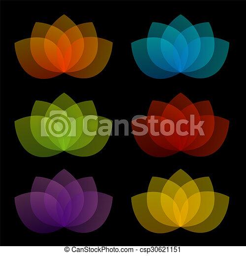 loto, aggraziato, 5, petali - csp30621151