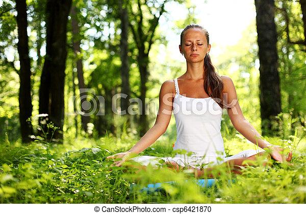 loto, yoga, alba - csp6421870