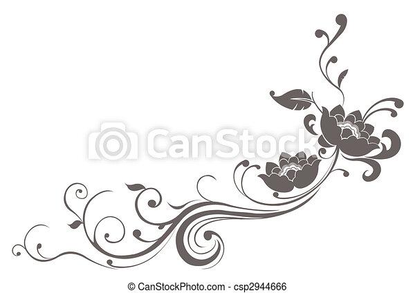 lotos, muster, blume - csp2944666