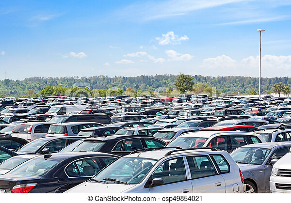 Lots of cars parking - csp49854021