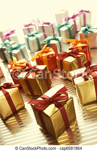 Lots of colorful gift boxes - csp6581864