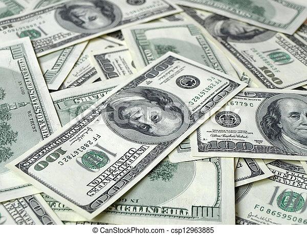 lots of dollar bills - csp12963885