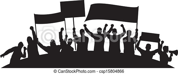 lots of furious people protesting - csp15804866