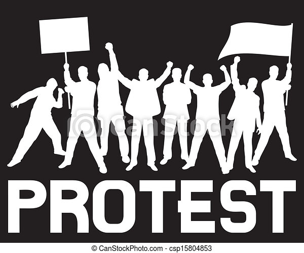 lots of furious people protesting - csp15804853