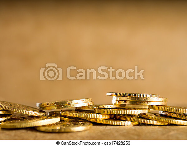 Lots of gold coins - csp17428253