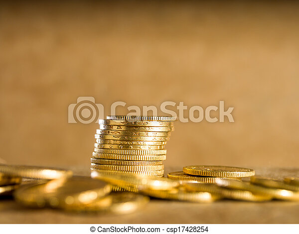 Lots of gold coins - csp17428254