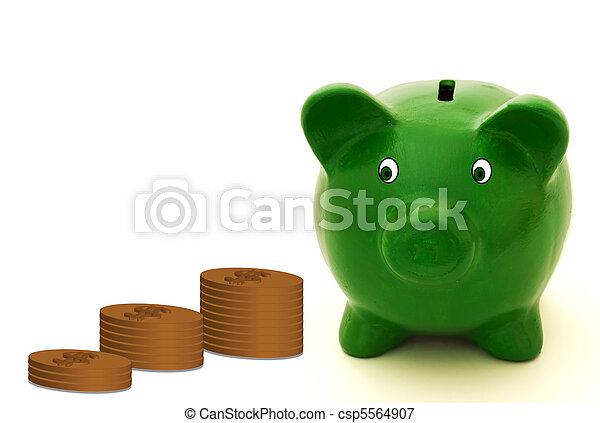Lots of money - csp5564907