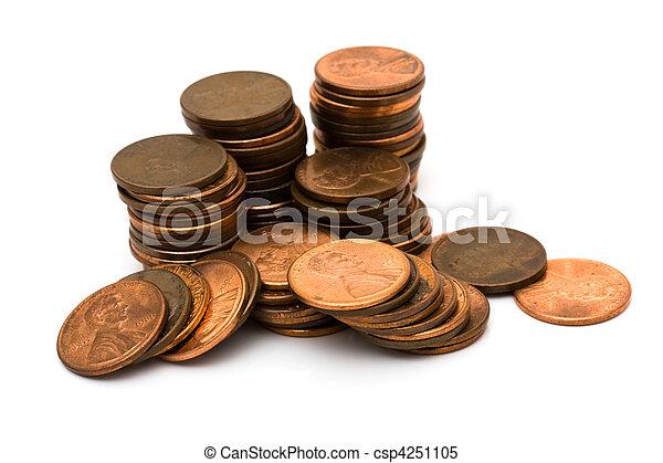 Lots of pennies - csp4251105