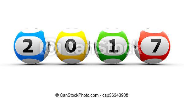 Lottery balls 2017 - csp36343908