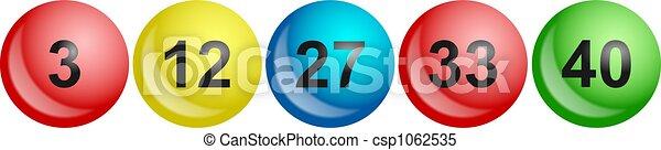 lottery balls - csp1062535
